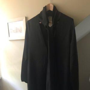 Nasty Gal black silk long sleeved dress